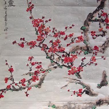 梅花欢喜漫天雪-形容大雪纷飞的诗句_关于描写梅花的